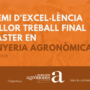 III Premi d'Excel·lència al millor Treball Final del Màster en Enginyeria Agronòmica (MENAG) CURS 2019-2020