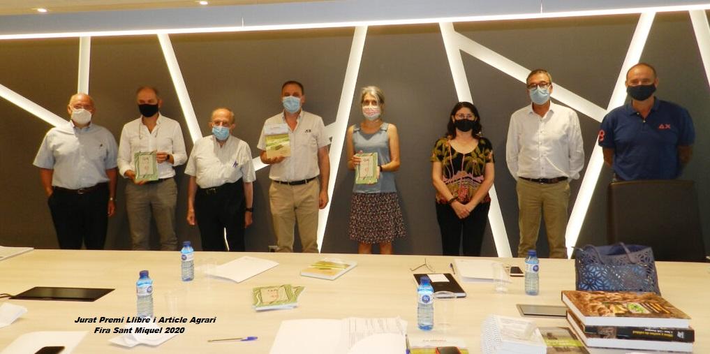 Guanyadors del Premi Llibre Agrari i Article Tècnic Agrari Fira Sant Miquel 2020