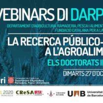 Webinar: La recerca público-privada a l'agroalimentació: els Doctorats Industrials