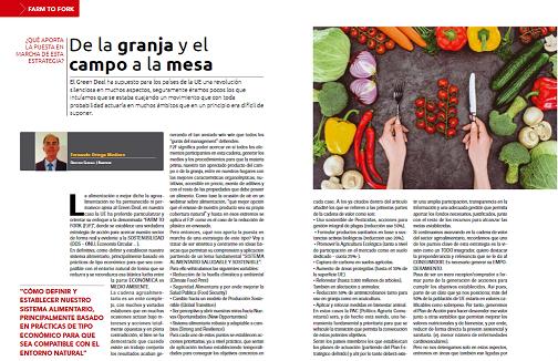 """El company Fernando Ortega publica a la revista Aral l'article """"Farm to fork ¿Qué aporta la puesta en marcha de esta estrategia? De la granja y el campo a la mesa"""""""