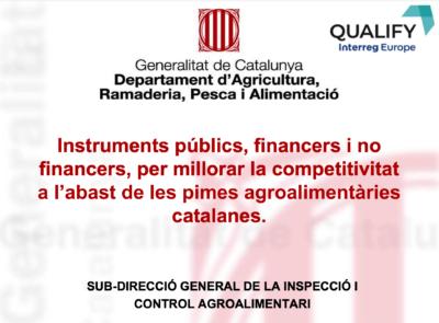 Recull dels Instruments públics per millorar la competitivitat a l'abast de les pimes agroalimentàries catalanes