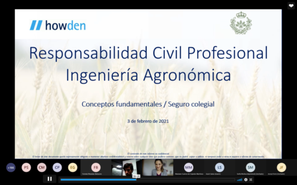 L'assegurança de responsabilitat civil professional dels enginyers agrònoms, webinar sobre els avantatges de la pòlissa col·lectiva
