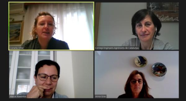 Reunió amb la Directora de l'Escola d'Enginyeria Agroalimentària de Barcelona (EEABB), la companya Anna Gras