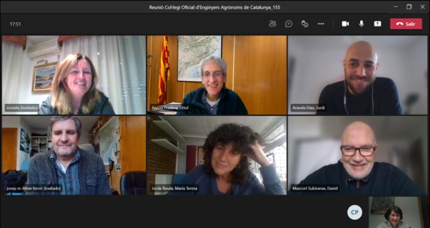 Els Enginyers Agrònoms ens reunim amb la consellera del DARP, Teresa Jordà