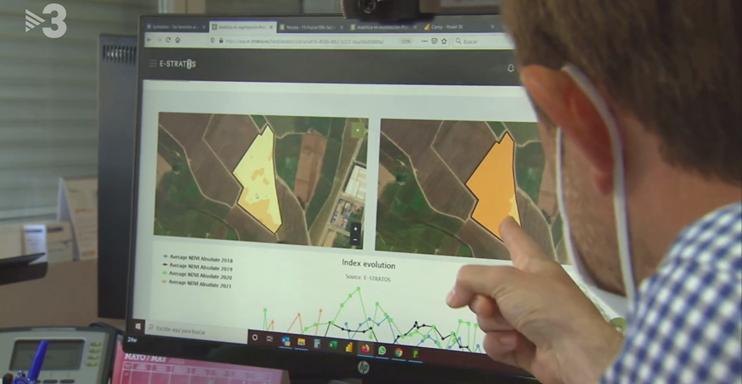 Informació als mitjans de l'agricultura de precisió a càrrec dels companys agrònoms