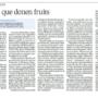 """Publicat article al Diari Segre """"Llibres que donen fruits"""" del company Santiago Planas"""