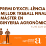El COEAC premia el talent de les noves generacions d'enginyers agrònoms amb el IV Premi al millor Treball Final de Màster en Enginyeria Agronòmica de la UdL