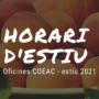 Informació Oficines Col·legi: Estiu 2021