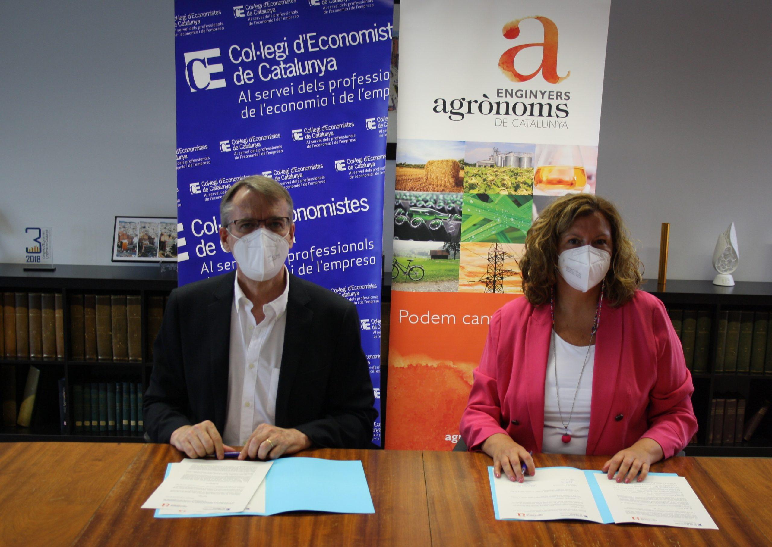 Conveni de col·laboració del Col·legi Enginyers Agrònoms amb el Col·legi d'Economistes de Catalunya