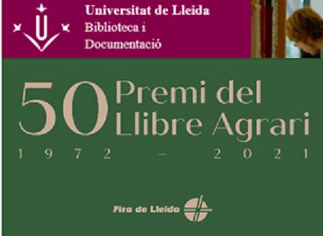 Biblioguia UdL – exposició virtual premis llibre agrari 1972-2021