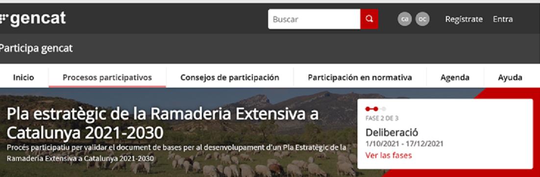 Pla estratègic de la Ramaderia Extensiva a Catalunya 2021-2030. Comencen les sessions de debat territorials